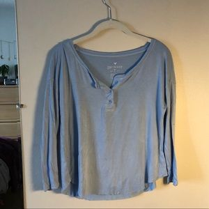 periwinkle long sleeved soft and sexy tshirt
